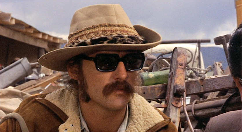 Dennis Hopper wearing his iconic Ray-Ban Olympians