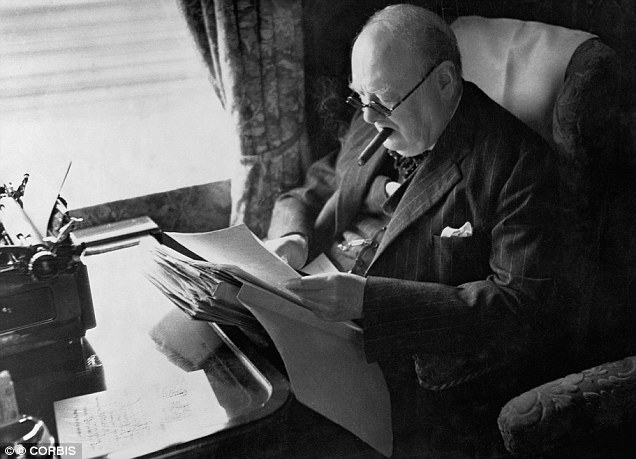 Winston Churchill wearing C.W. Dixey and Son glasses